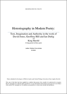 Phd thesis poetry