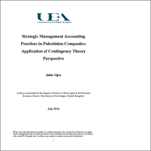 strategic management accounting and applying it In the environment mentioned above, to achieve competitiveness companies  apply dif- ferent strategies, and management accounting should be used as one  of.