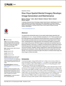 How visuo-spatial mental imagery develops:Image generation