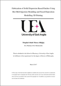 Solid dispersion phd thesis