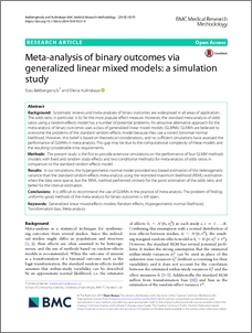 Meta-analysis of binary outcomes via generalized linear
