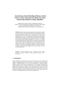 Inertial sensor based modelling of human activity classes